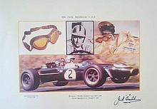 Sir Jack Brabham signed limited edition print.