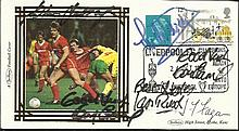 Liverpool FC multi-signed 1984 Benham small silk