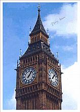 Tony Benn 12x8 colour laser photo of Big Ben,