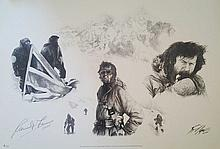 Ranulph Fiennes signed limited edition print 9 of