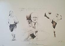 Tom Finney signed limited edition print. Numbered