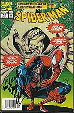 Stan Lee 1991 Marvel comic of Spiderman,
