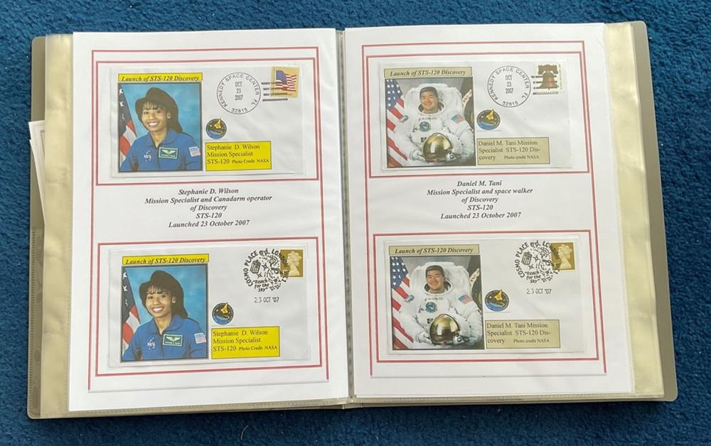 66 Space Exploration FDC with Stamps and FDI Postmarks, Housed in a Binder with Stunning NASA