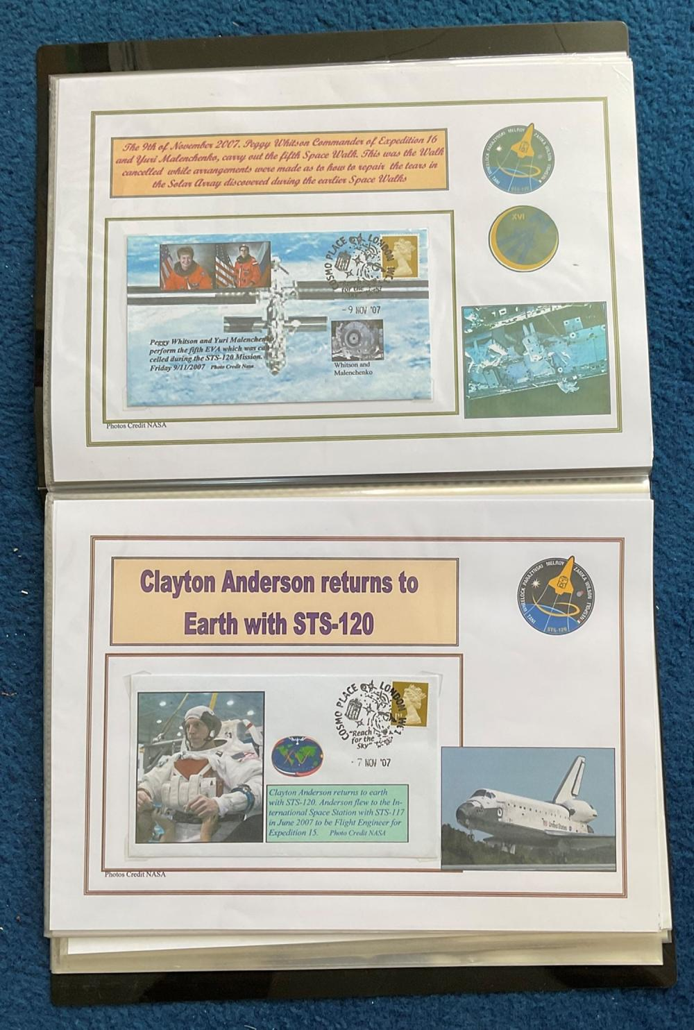 16 Space Exploration FDC with Stamps and FDI Postmarks, Housed in a Binder with Stunning NASA