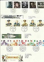 Royal Mail FDC collection in Red cover Album. 46