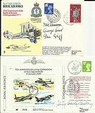 Battle of Britain collection, two covers signed by