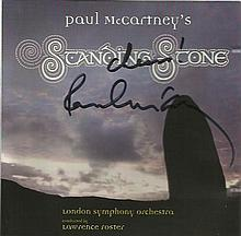 Sir Paul McCartney signed insert cover to his CD