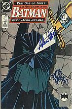 Bob Kane, Adam West signed DC comic The Many