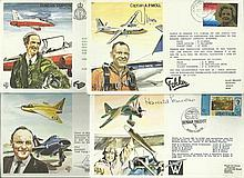 Test Pilots signed collection four covers from the