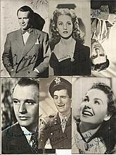 Vintage Film Star Photos with printed autographs