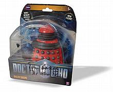 Tom Baker Dr Who actor signed to case of Dalek