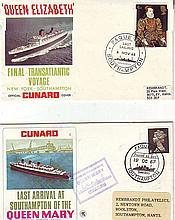 Cunard Paquebot carried covers, 1967 Last Arrival