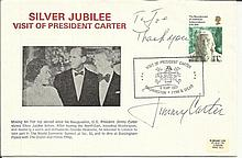 Jimmy Carter signed 1977 Silver Jubilee UK