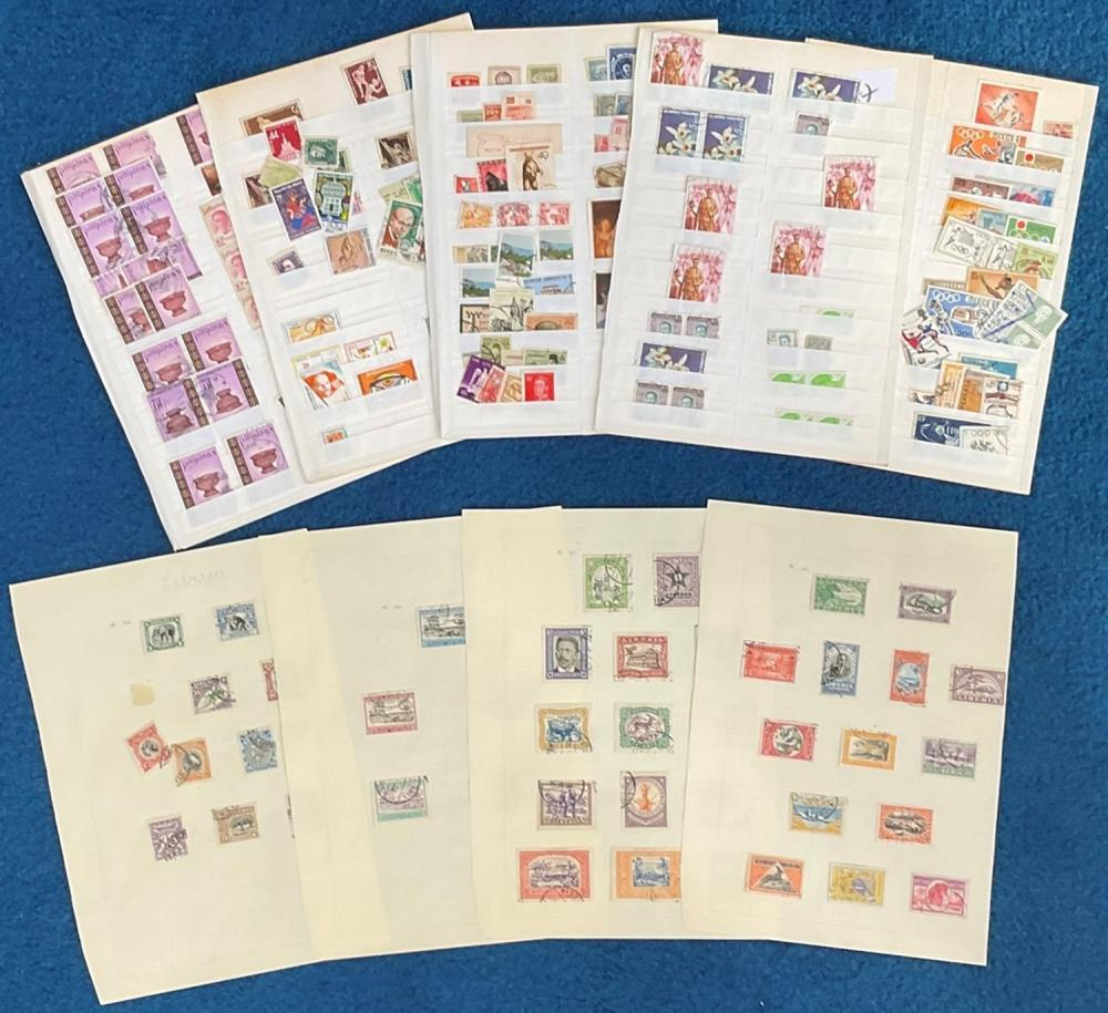 Stamp collection. Includes China, Thailand, Philippines, Mexico, Liberia. Good condition. We combine