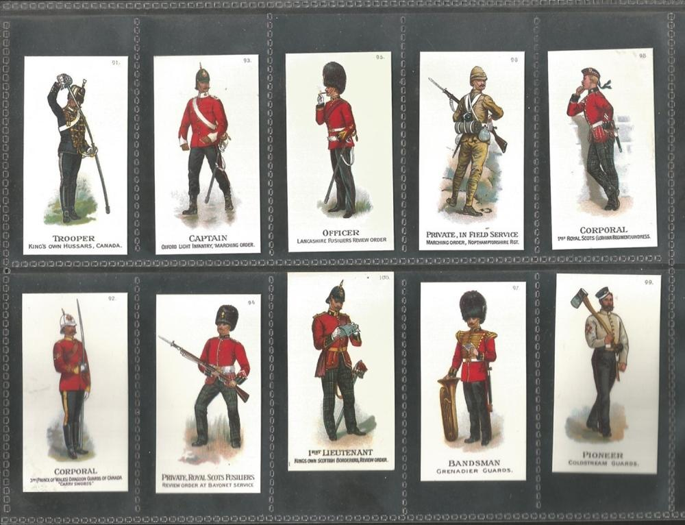 John Player's Cigarette Cards, Reproductions from 1996-1997, Regimental Standards and Badges and