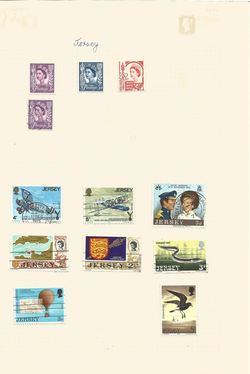 Jersey, Guernsey, Isle of Man, Scotland, Wales, Northern Island, stamps on loose sheets, approx. 65.