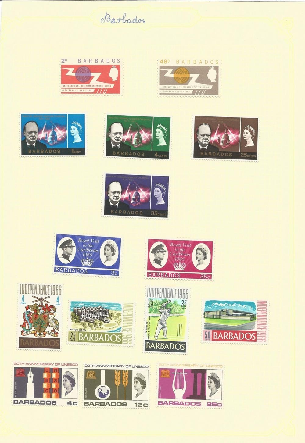 British Commonwealth including Bahamas, Bechuanaland, Bermuda, Barbados, stamps on loose sheets,