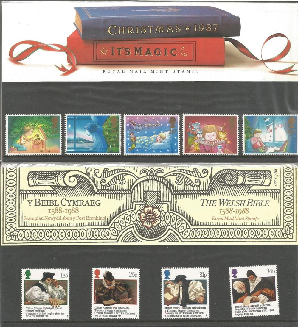 Great Britain, presentation packs 1986-1988, 18 packs. Good condition. We combine postage on