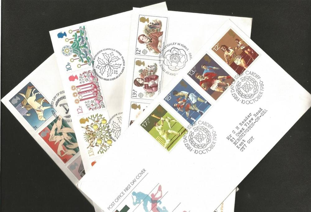Great Britain, First Day Covers, 1980-1983, approx. 30. Good condition. We combine postage on