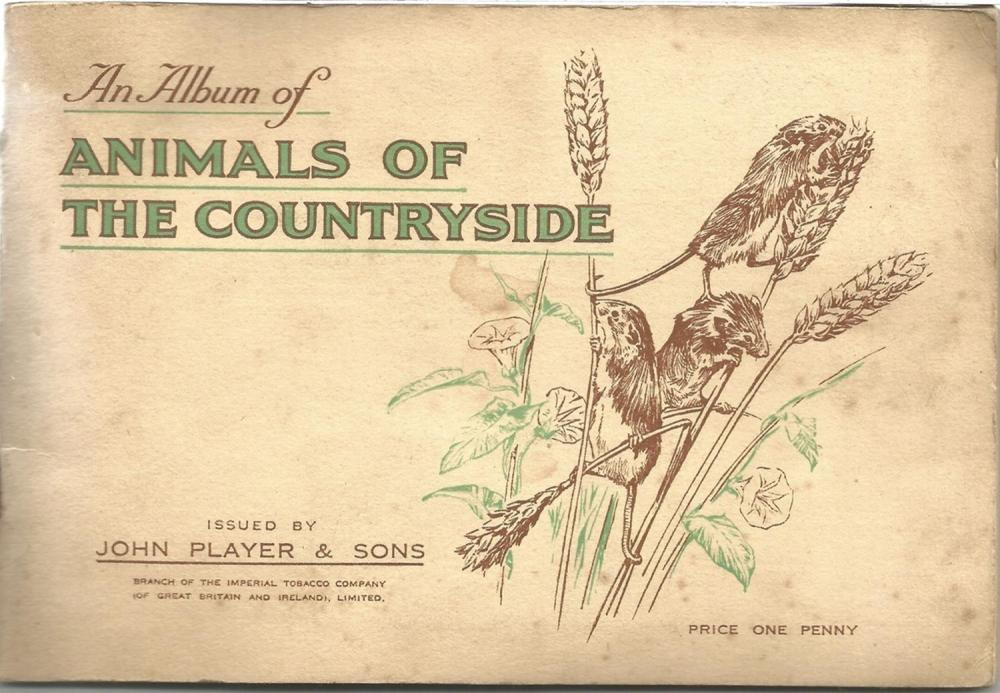 Player's Cigarette Cards, Album of Animal of the Countryside, 1939, 50 cards. Good condition. We