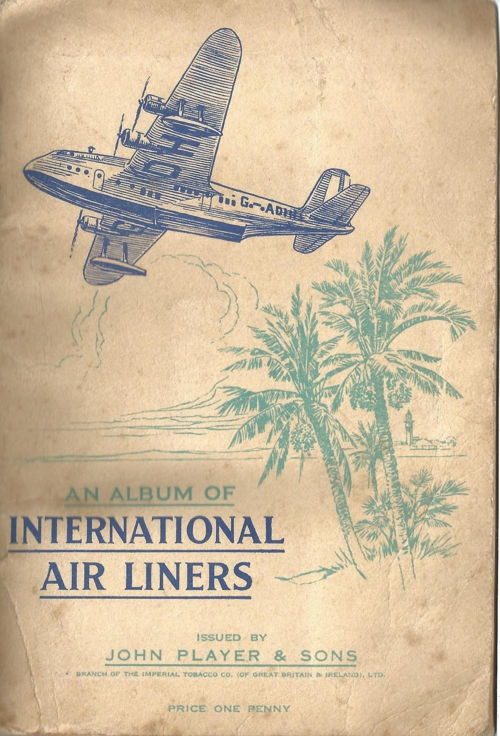 Player's Cigarette Cards, Album of International Air Liners, 1936, 50 cards. Good condition. We
