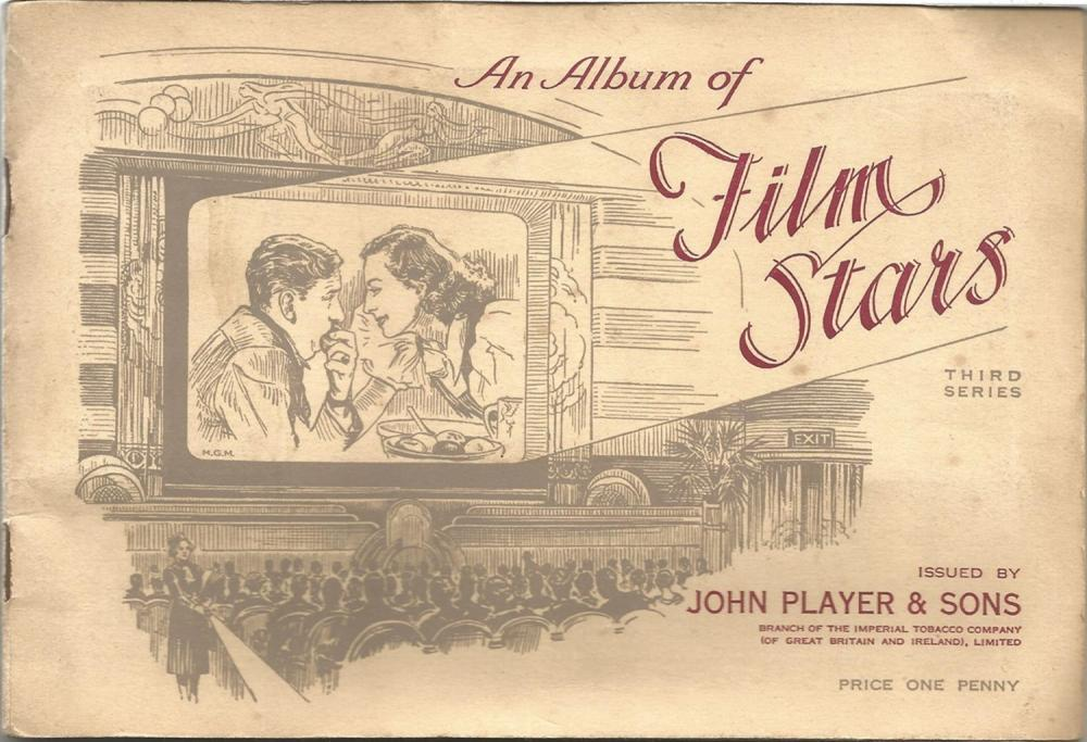 Player's Cigarette Cards, Album of Film Stars, 1934, 50 cards. Good condition. We combine postage on