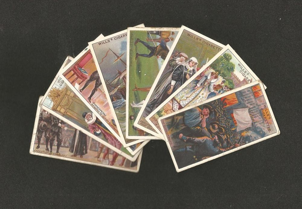 Will's Cigarettes Cards, Historic Events, 1912, 48 cards. Good condition. We combine postage on