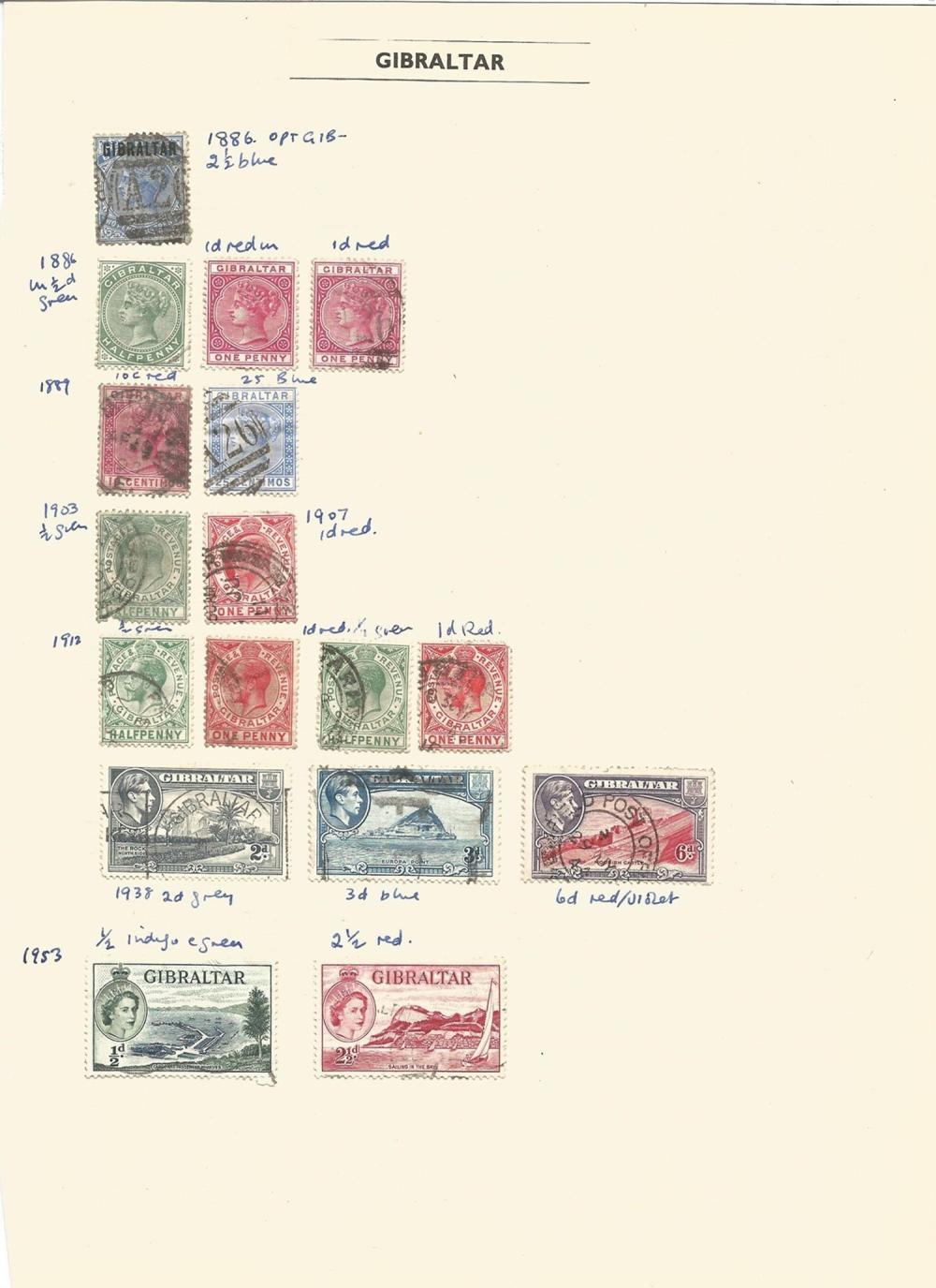 Bermuda, St Vincent, Bahamas, Barbados, British Guiana, Cape of Good Hope, Gibraltar, stamps on