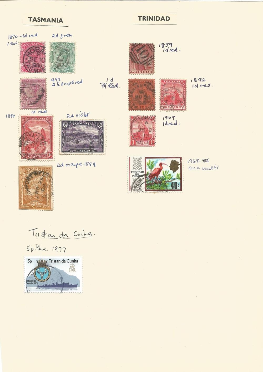 Straits Settlements, British Solomon Islands, Dominica, Pitcairn Islands, Grenada, Tanganyika,