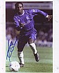 Celestine Babayaro signed 10 x 8 colour Chelsea football action photo -