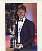 Teddy Sherringham signed 10 x 8 colour photo holding the 2001 Players Player of the Year award