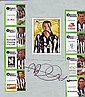 Gary Speed signed Newcastle trade card mounted with football magazine photos of other players, bit scruffy but very scarce
