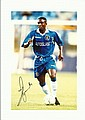 Celestre Babayaro signed 12 x 8 colour Chelsea Football photo
