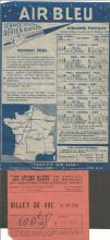 1935 Air Bleu Postal Service Timetable October. And 1931 100f ticket. Under the leadership of