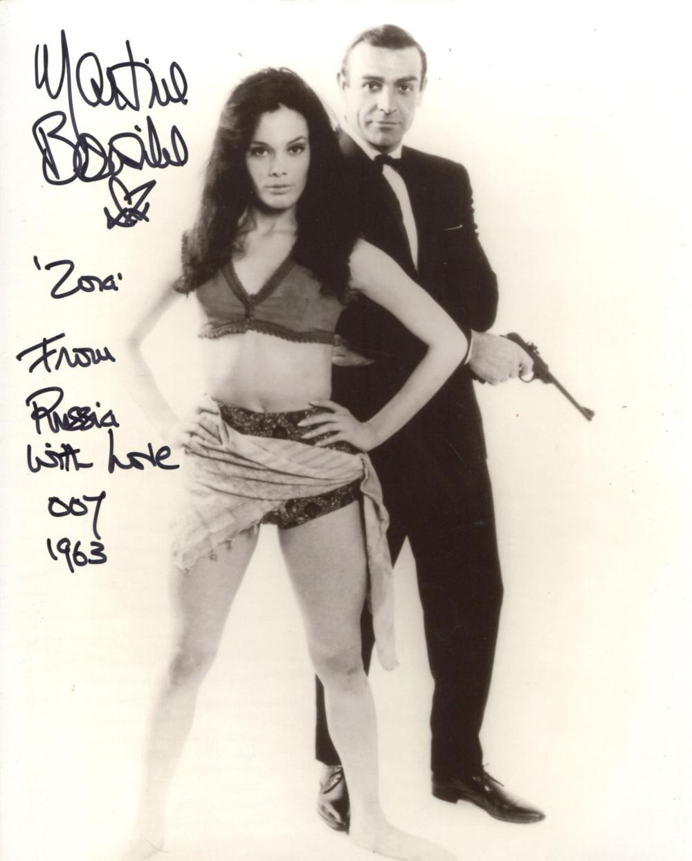 007 Bond girl Martine Beswick signed 8x10 From Russia With Love movie photo with character name and