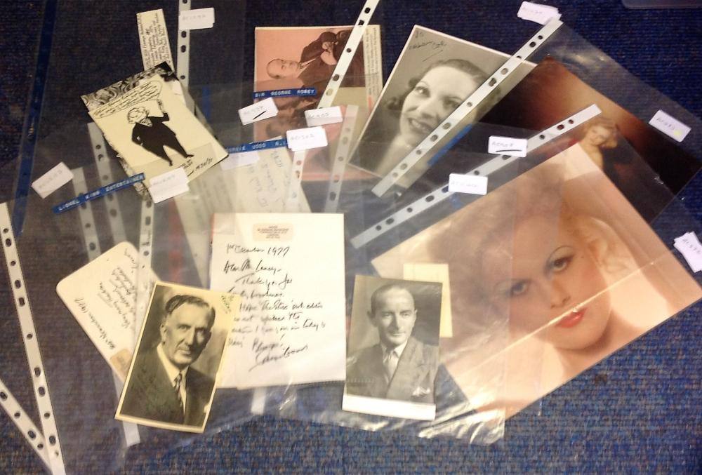 Assorted TV/Film collection. 12 items. Assorted photos, letters and signature pieces. Includes