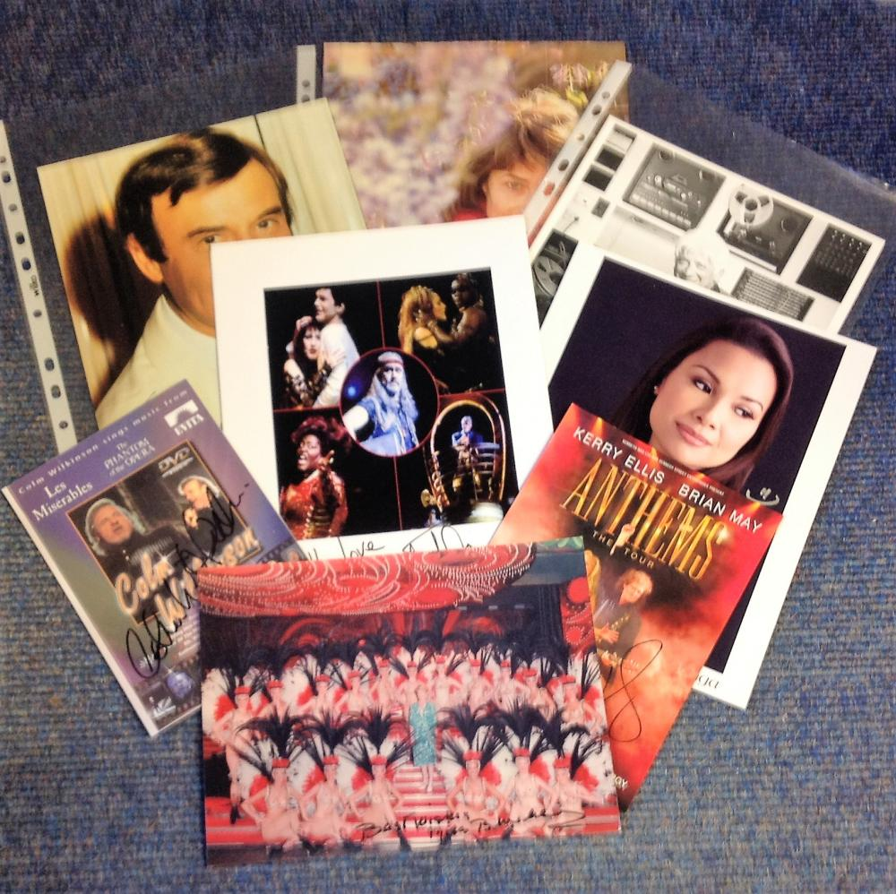 Music signed collection. 9 items. Mainly 10x8 photos. Some of names included are Miss Bluebell,