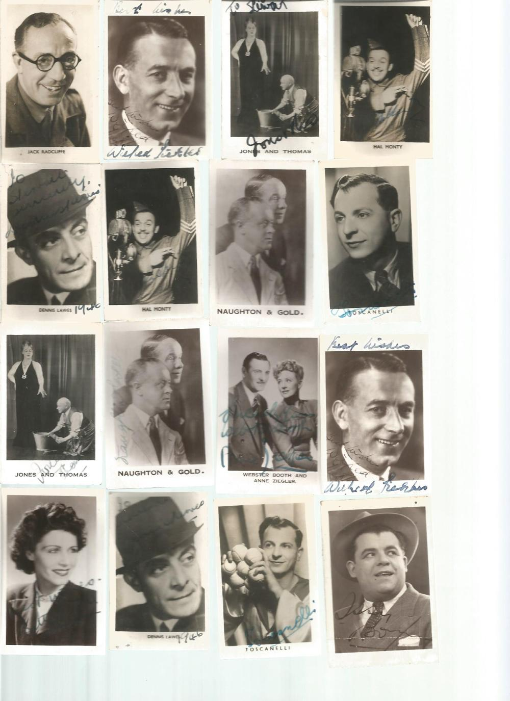 vintage signed photo collection. 18 2x1 photos. Some of names included are Don Alvin, Webster