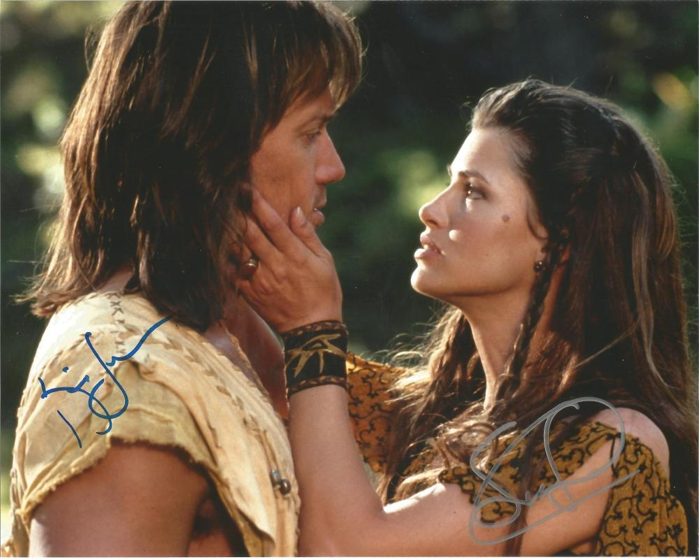 Hercules dual signed 10x8 photo. This beautiful hand signed photo depicts Kevin Sorbo and Sam