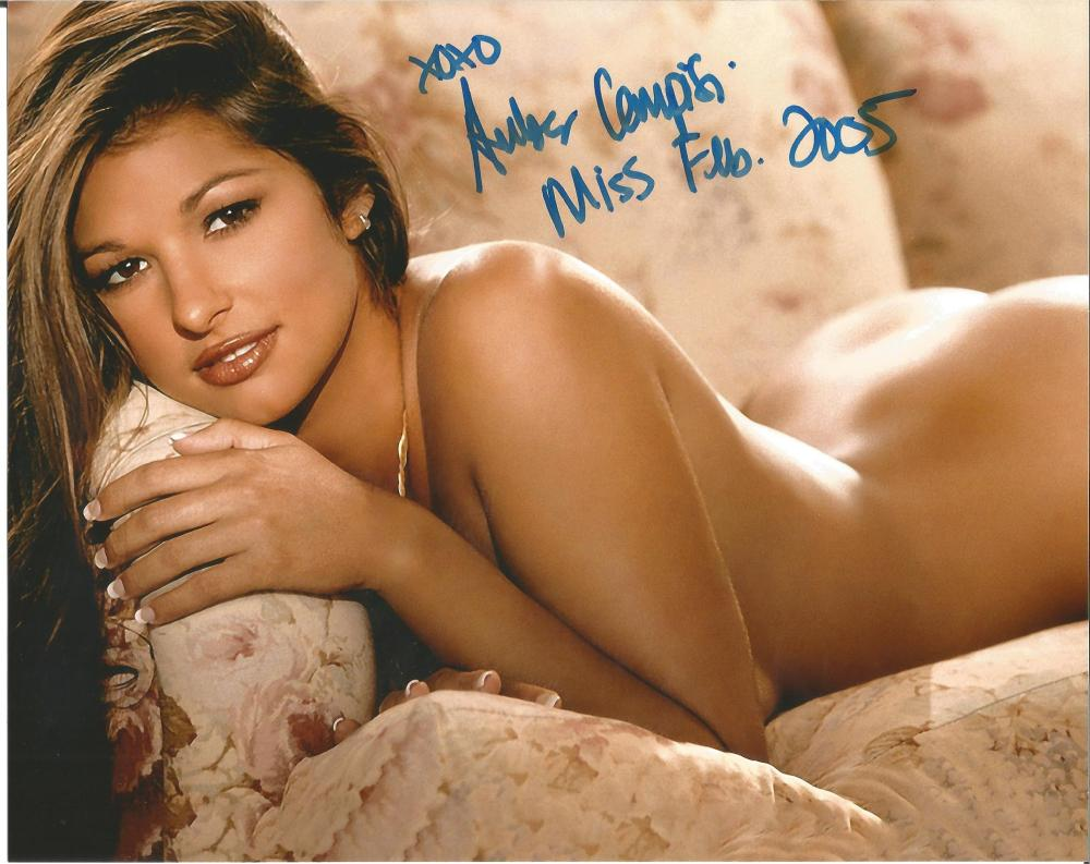 Amber Campisi Playboy Playmate signed 10x8 photo. This beautiful hand signed photo depicts model,