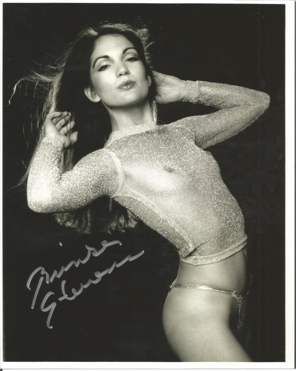 Brinke Stevens B-Movie Scream Queen hand signed 10x8 photo. This beautiful hand-signed photo depicts