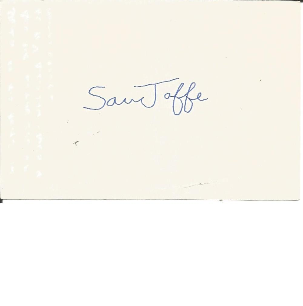 Sam Jaffe signed album page. (March 10, 1891 - March 24, 1984) was an American actor, teacher,