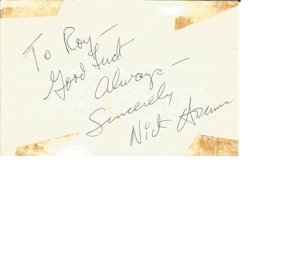 Nick Adams signature piece. July 10, 1931 - February 7, 1968) was an American film and television