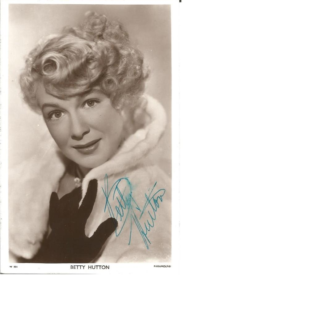 Betty Hutton signed 6x4 vintage picturegoer postcard. February 26, 1921 - March 12, 2007) was an