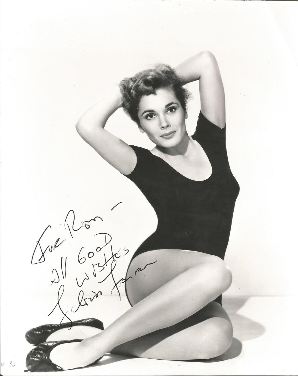 Felicia Farr signed 10x8 b/w photo. American actress and model. Dedicated. Good Condition. All