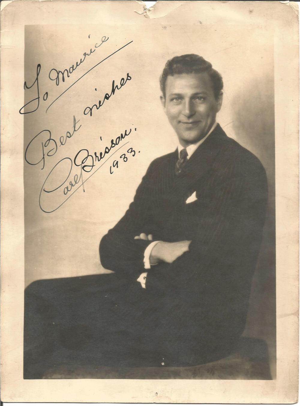 Carl Brisson signed 10x8 vintage photo. Danish film actor and singer. He appeared in thirteen