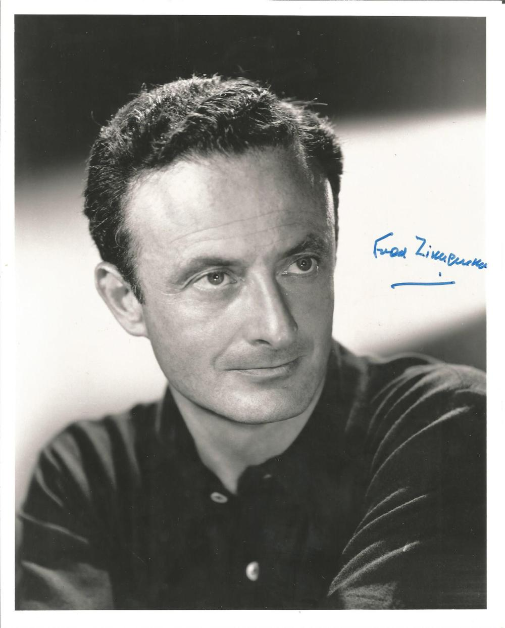 Fred Zinnemann signed 10x8 b/w photo. (April 29, 1907 - March 14, 1997) was an Austrian-born