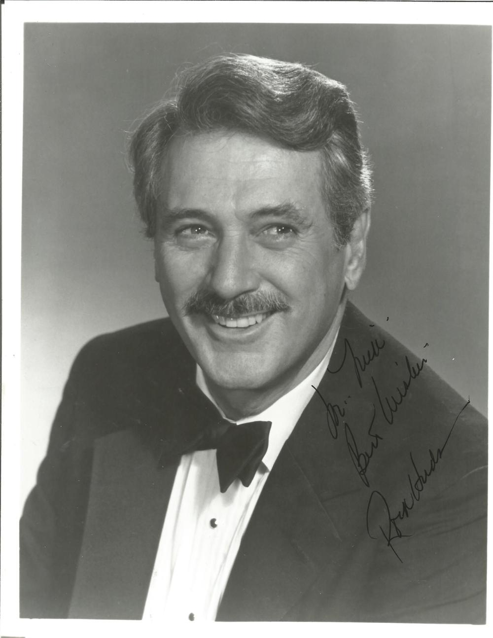 Rock Hudson signed 10x8 b/w photo. November 17, 1925 - October 2, 1985) was an American actor,