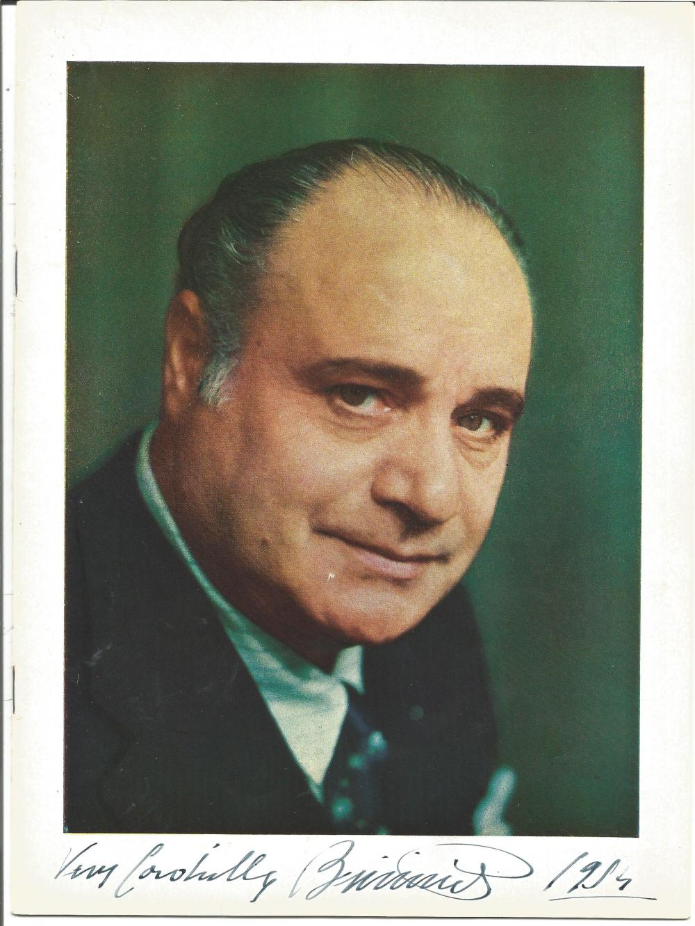 Beniamino Gigli signed programme. 20 March 1890 - 30 November 1957) was an Italian opera singer.