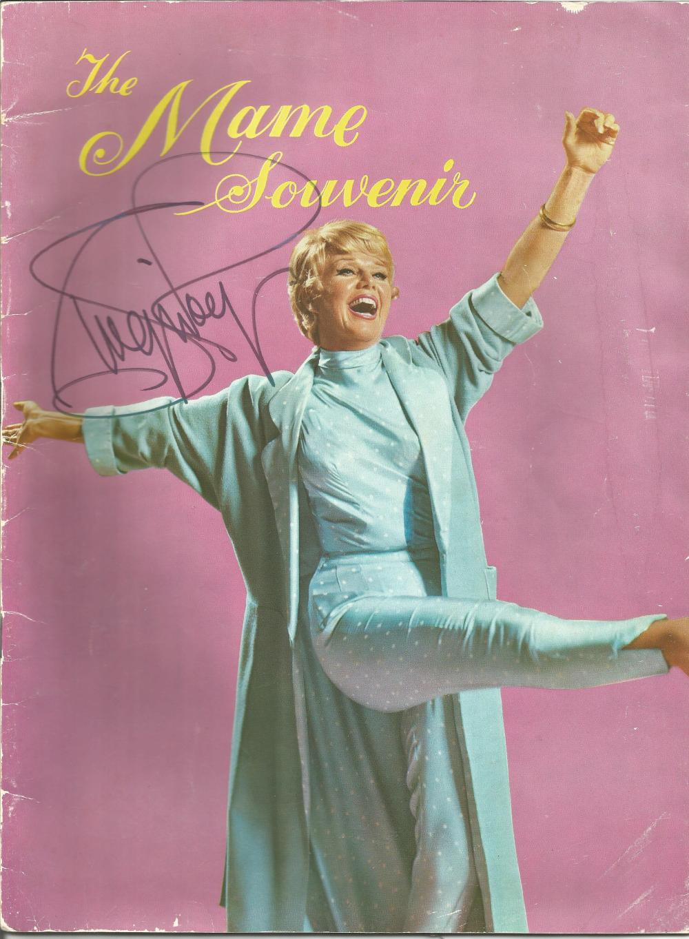 Ginger Rogers signed souvenir program for Mame. Signed on front cover. Good Condition. All signed
